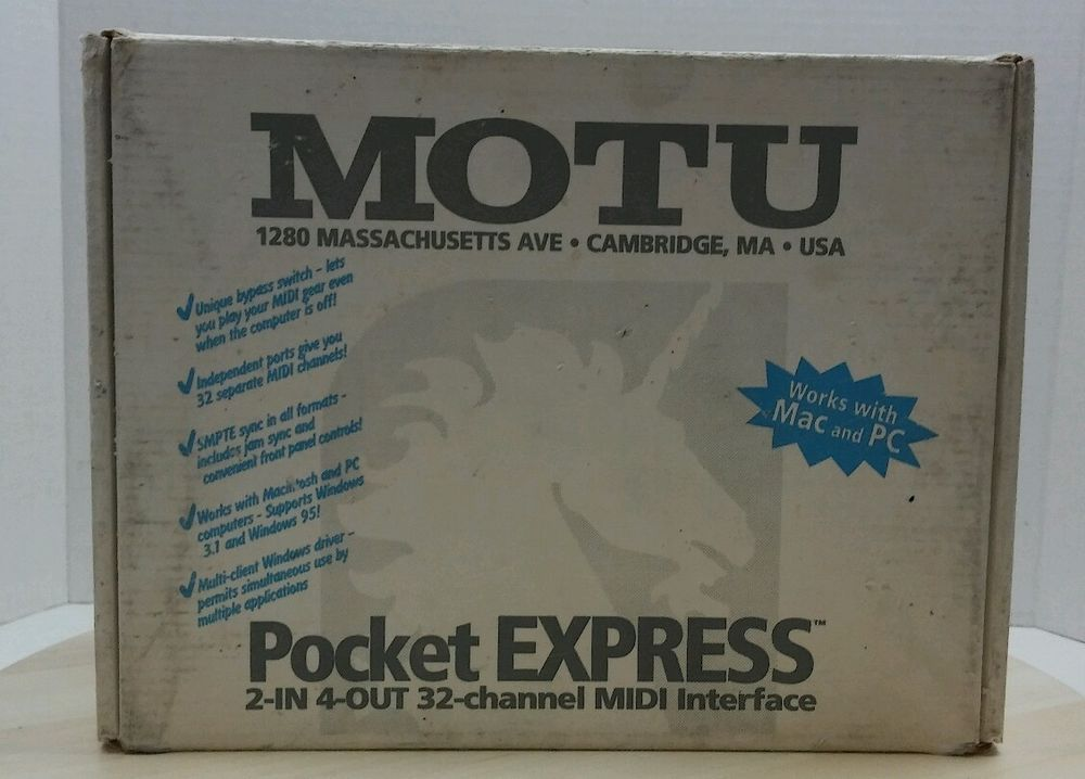Motu Pocket Express 32 Ch MIDI Interface NEW/Old Stock #MOTU