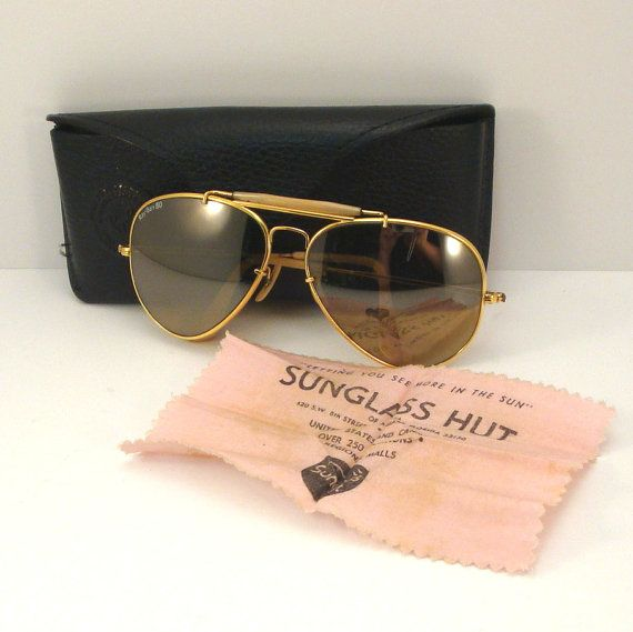 1980s Ray Ban The General Aviator Vintage by VintageCreekside