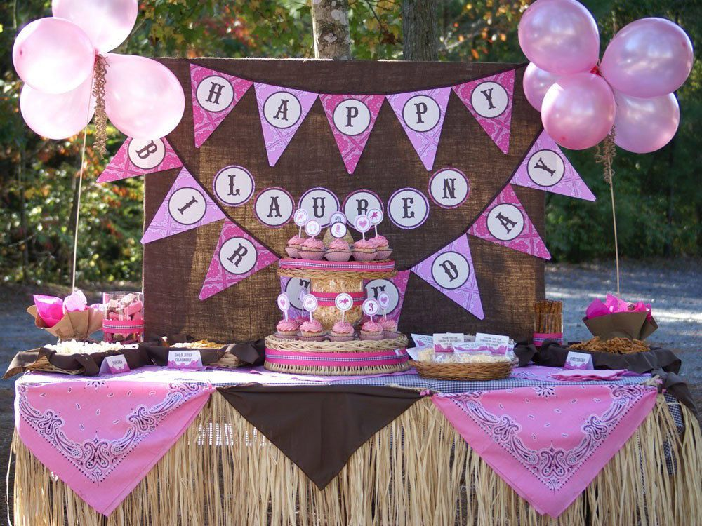 WESTERN COWGIRL Birthday Party Printables COLLECTION