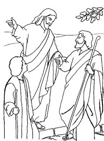 Road To Emmaus Coloring Page Google Search Bible Coloring