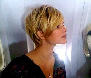 love this pic of her with short hair... saving for the next time i chop mine all off :)