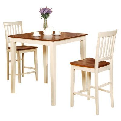 Wooden Importers Vernon 3 Piece Counter Height Dining Set Finish Extraordinary Three Piece Dining Room Set Inspiration