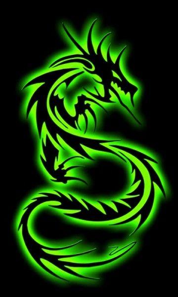Neon Dragon Tattoos : dragon, tattoos, Dragon, (come, Diffrent, Colors), RocketDock.com, Tribal, Tattoos,, Wallpaper, Iphone,, Images