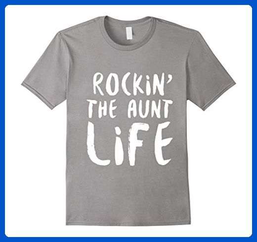 Mens Rocking the aunt life family parent dad mom shirts 3XL Slate - Relatives and family shirts (*Amazon Partner-Link)