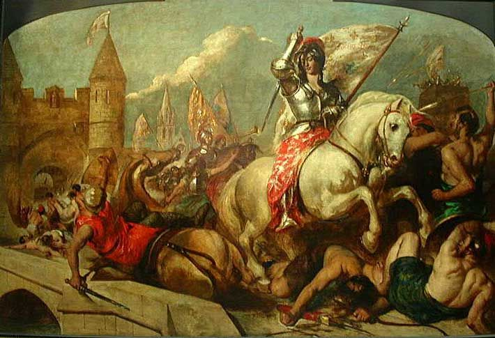 JOAN OF ARC HEARING VOICES OF SAINTS GOD/'S SPIRIT PAINTING ART REAL CANVAS PRINT