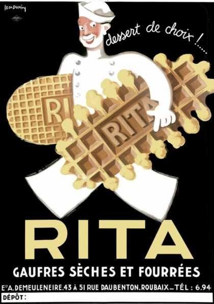 """""""Rita"""" vintage French advertising poster art"""