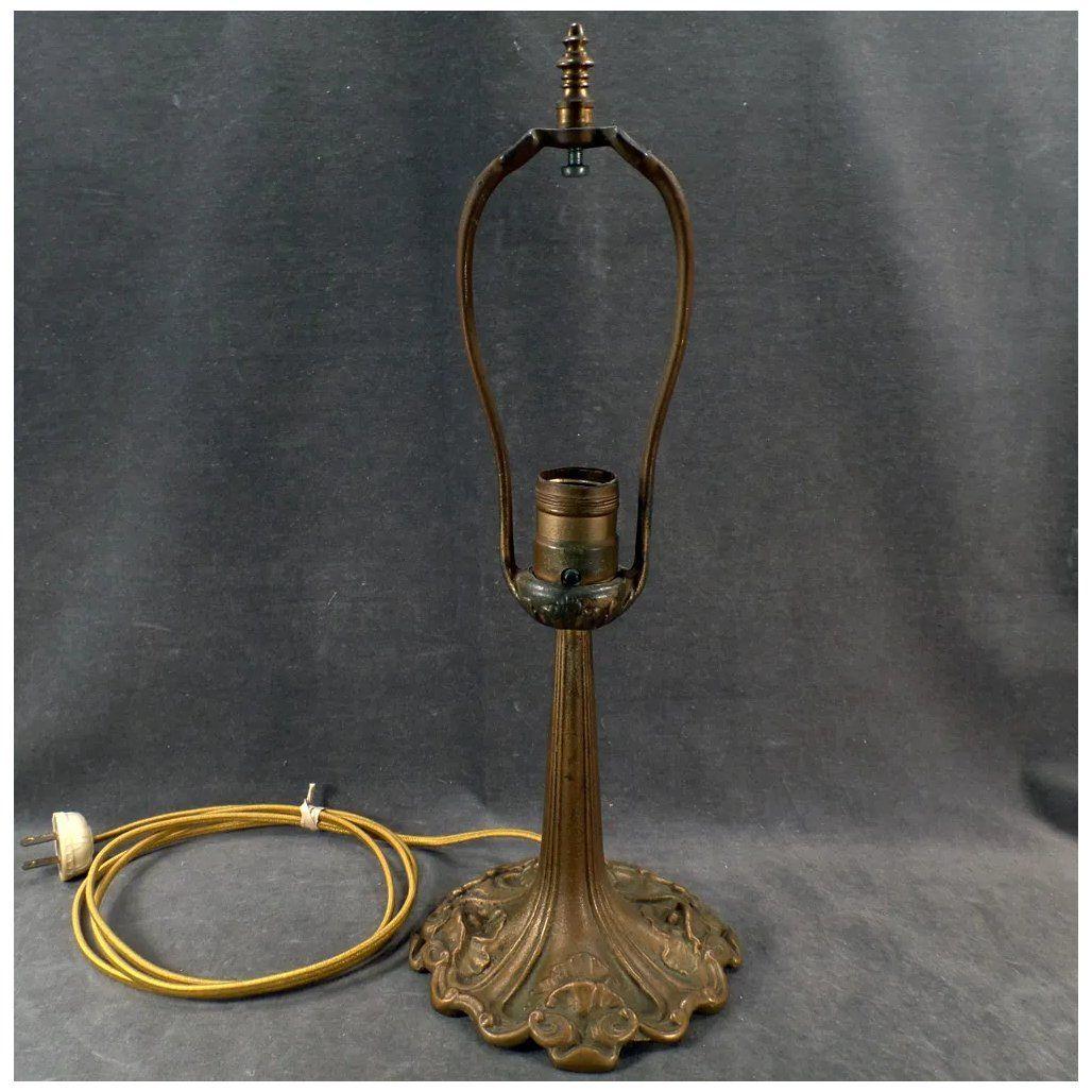 Vintage Art Nouveau Lamp Base Aladdin Cast Iron Table