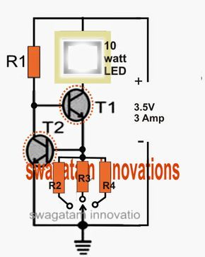 electronic circuit projects cree xm l t6 led driver circuit rh pinterest com