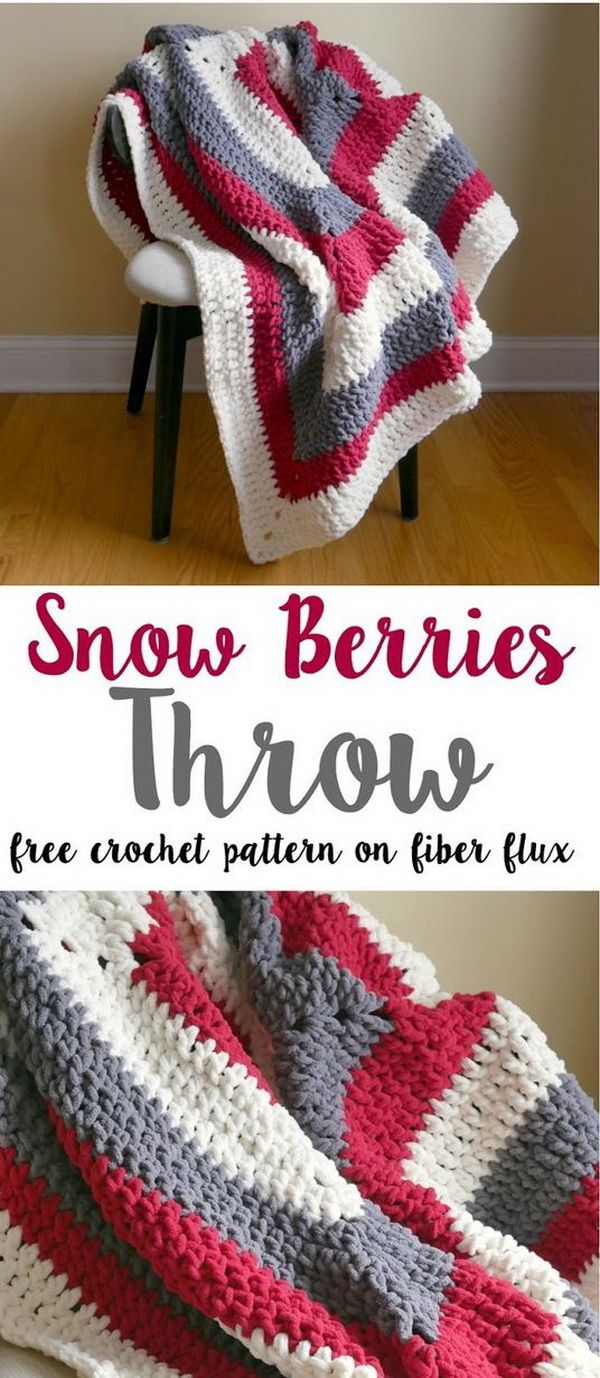 45+ Quick And Easy Crochet Blanket Patterns For Beginners | Easy ...