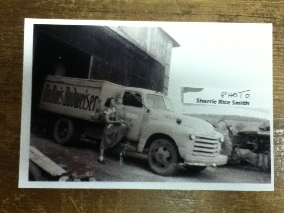 1950s DuBois Budweiser Beer Truck Photograph Clarion, PA Brewery Neat Old Truck