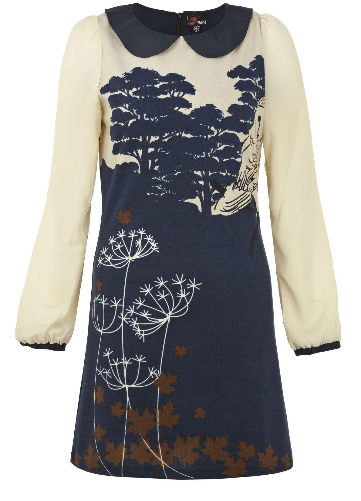 @Yumi Direct Owl Long Sleeved Dress - Bestsellers #pintowin