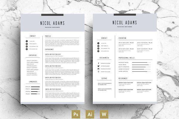 Creative Resume Template  Cv  C V    Creative Resume