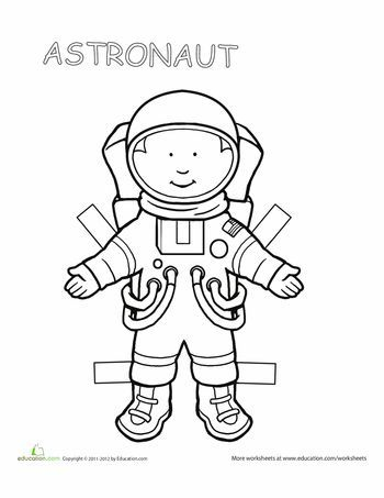 Image Result For Big Paper Doll Template Astronaut Primary