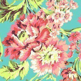 Fabric - Coral Camila - Caden Lane Baby Bedding