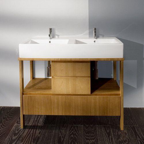 Lacava Aquamedia 42 Double Bowl Vanity - modern - bathroom vanities and sink  consoles - other metros - LACAVA