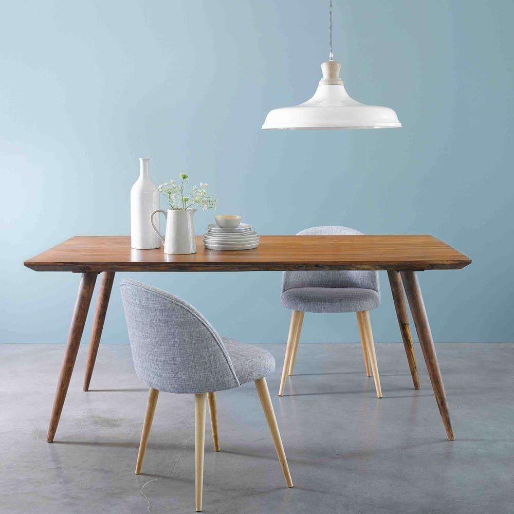 Tavolo vintage per sala da pranzo in massello di legno di ...