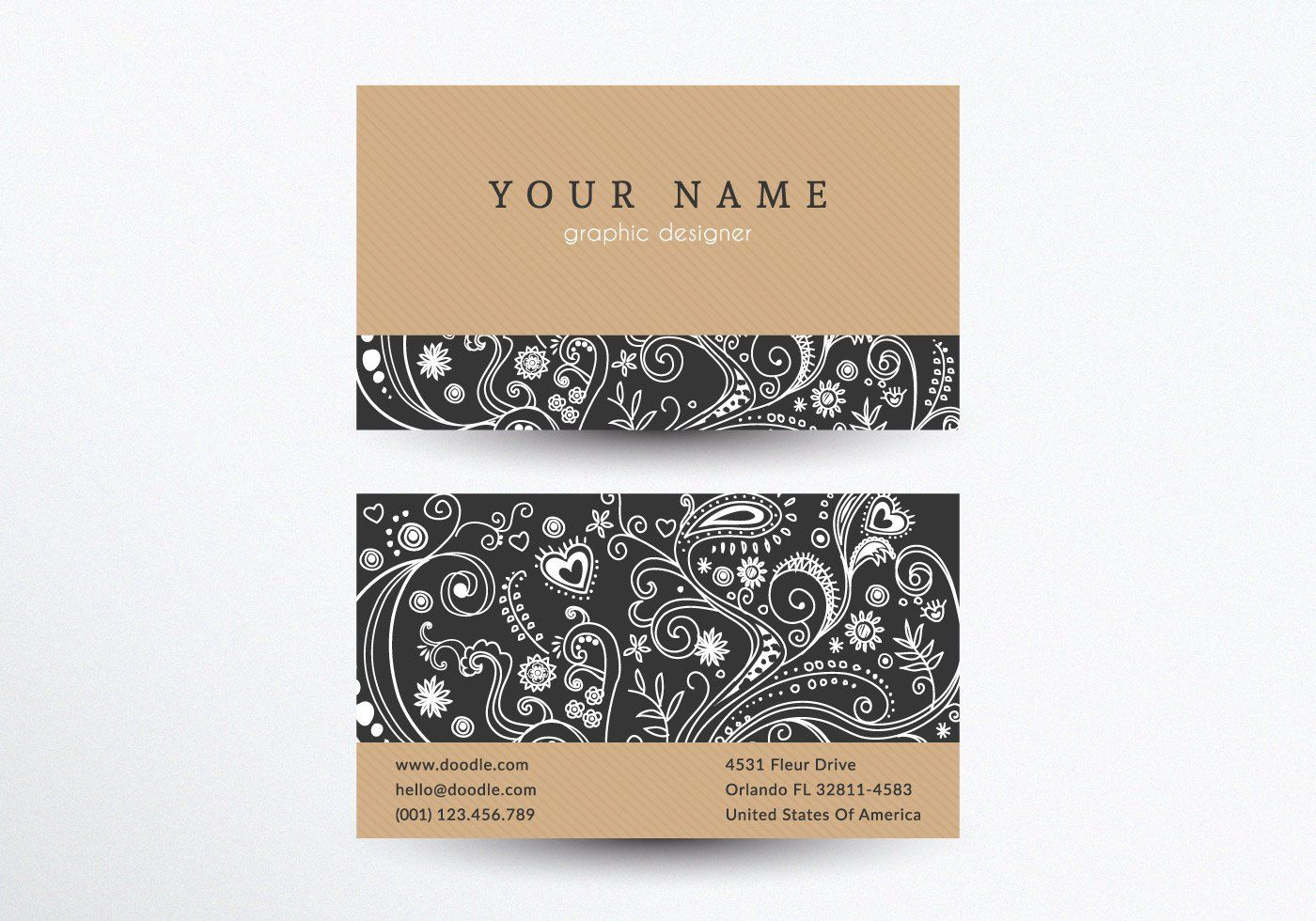 Creative Business Card Template Vector Graphic — business card ...