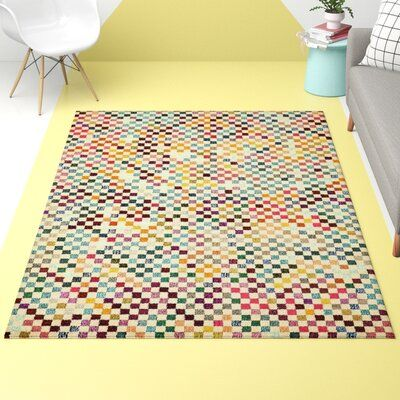 Hashtag Home Annmarie Yellow Green Blue Area Rug Rug Size Runner
