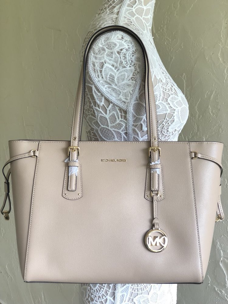 Michael Kors Voyager Medium Multifunction TZ Tote Oyster Leather   eBay da82cf9454