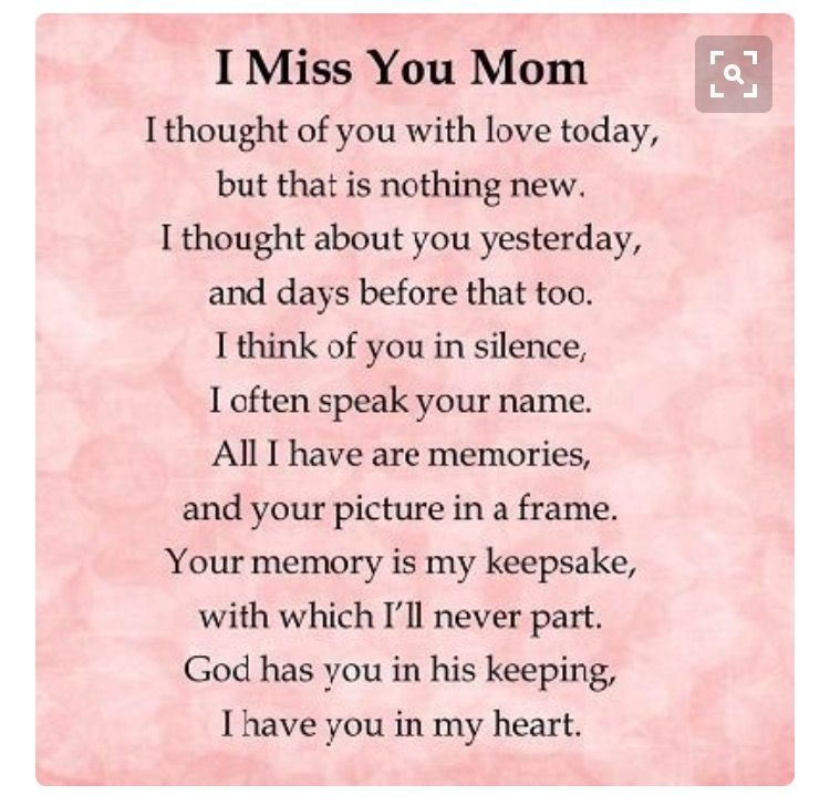 Pin By Dianna Bovi On I Miss You Mom And I'll Love You