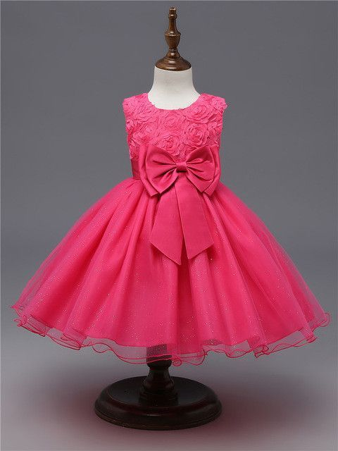 childrens flower wedding party kids dress