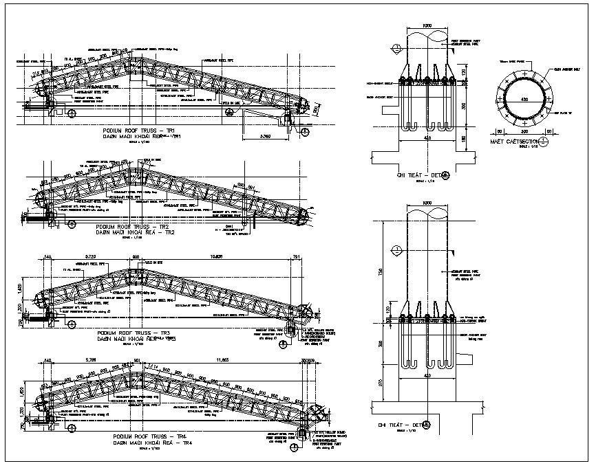 Truss Structure Details V7 Truss Structure Autocad Steel Structure Buildings