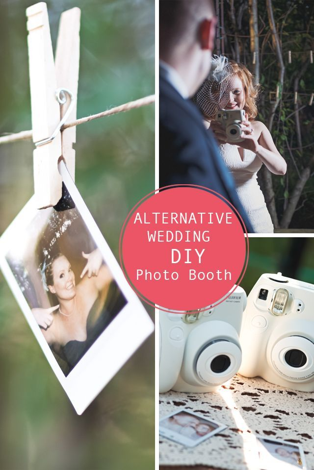Diy Alternative Wedding Photo Booth Fun Guest Book Idea Pinterest And Craft