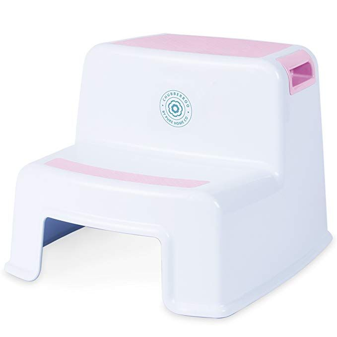 Superb Chubberroo Kids Dual Height Pink Step Stool For Kitchen Dailytribune Chair Design For Home Dailytribuneorg