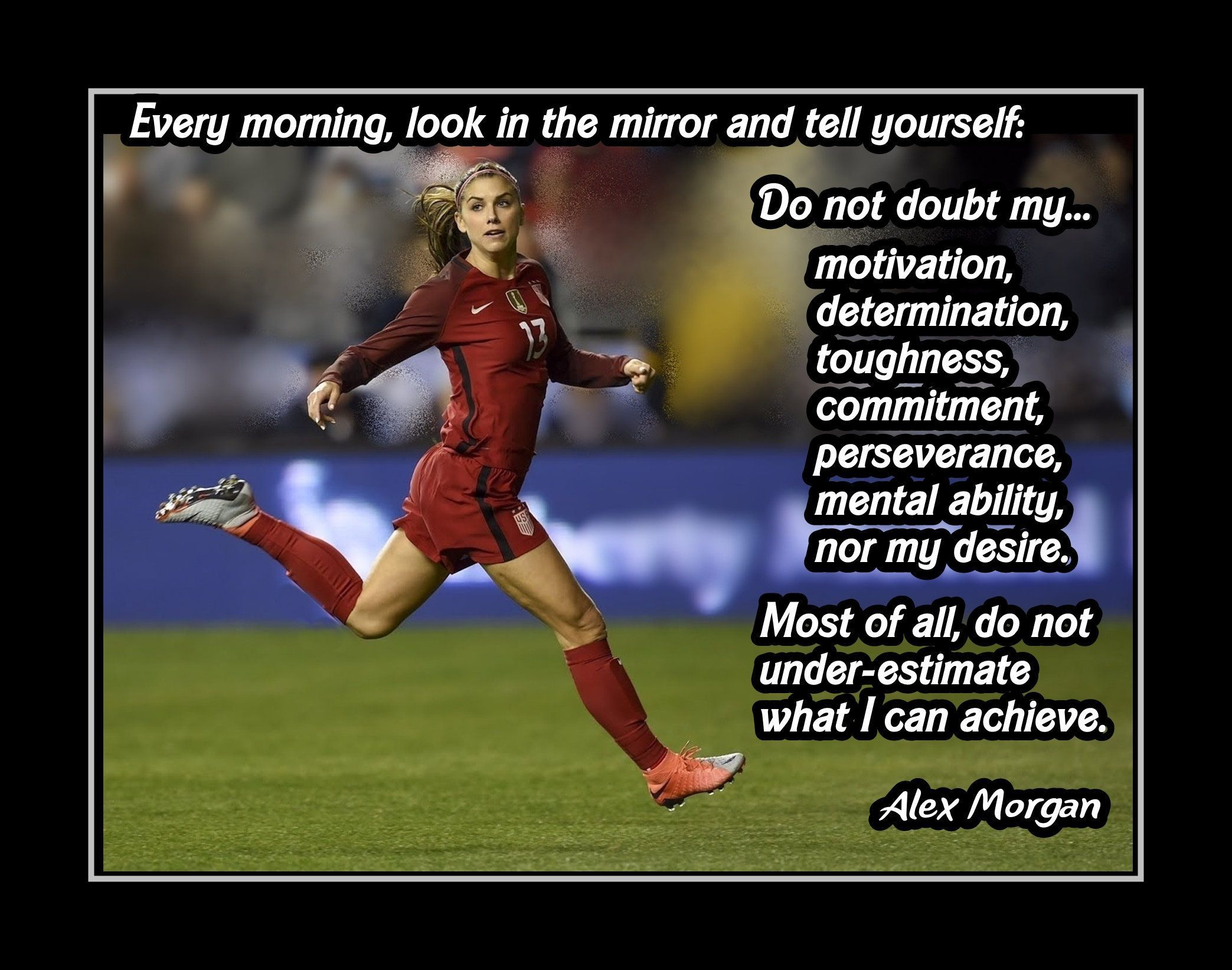Inspirational Soccer Motivation Quote Wall Art Poster Daughter Best Friend Sister Birthday Gift Ale In 2020 Inspirational Soccer Quotes Soccer Motivation Soccer Quotes
