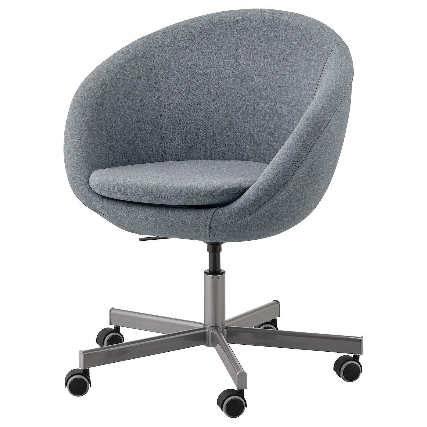 Skruvsta Swivel Chair Vissle Grey In 2020 Swivel Chair Ikea