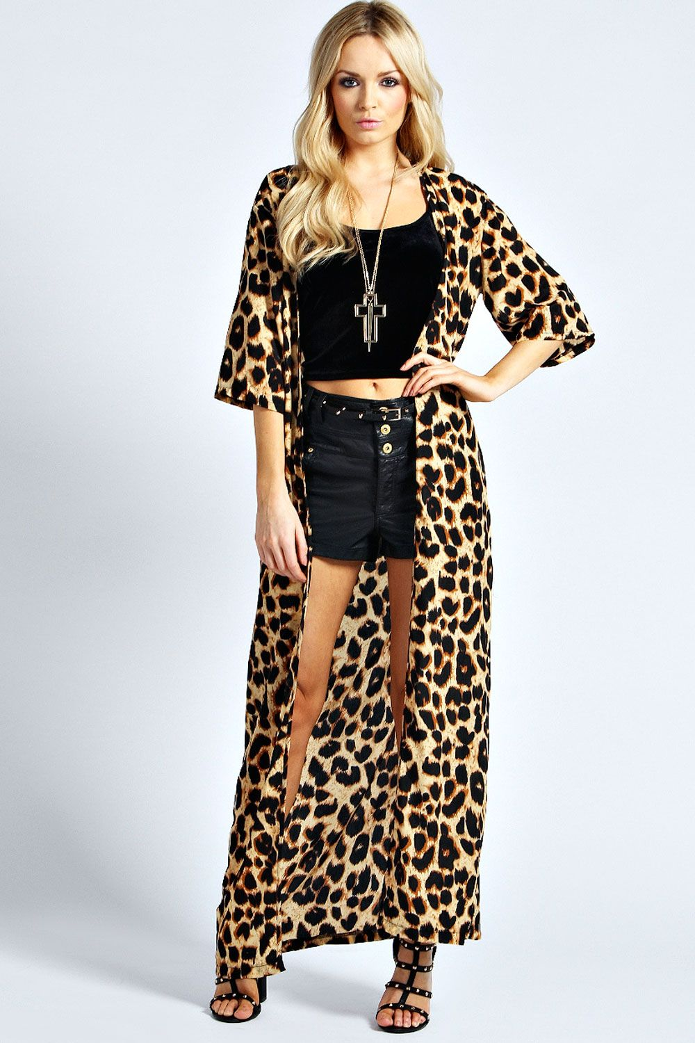 ccbbed5cfbb9 The leopard print maxi kimono only....Love it. | I want! in 2019 ...
