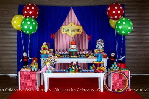 Fiesta de cumplea os inspirada en el circo fiestas - Ideas fiesta cumpleanos infantil ...
