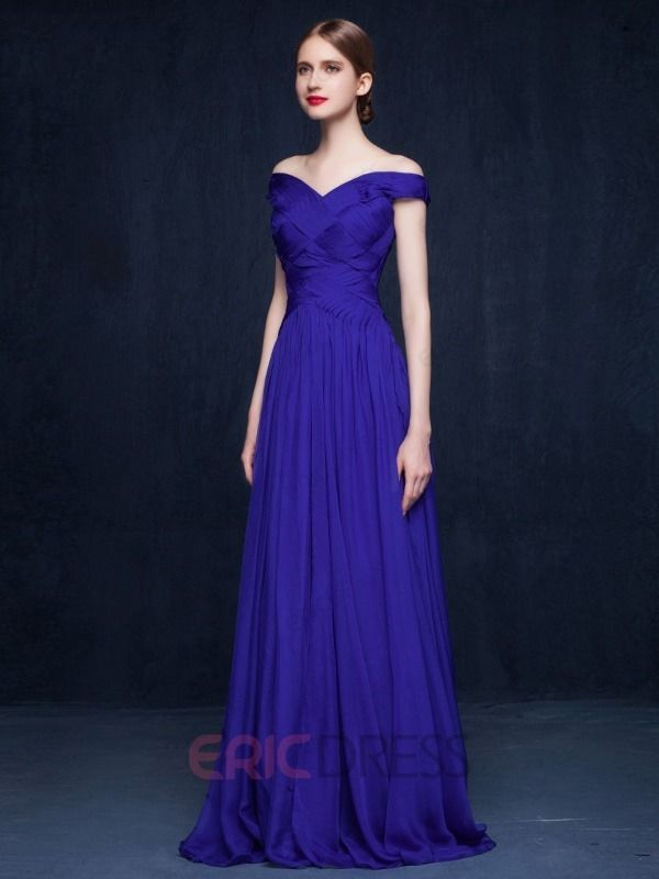 ericdress.com offers high quality  Ericdress A-Line Off-The-Shoulder Pleats Evening Dress Evening Dresses 2015 unit price of $ 111.59.