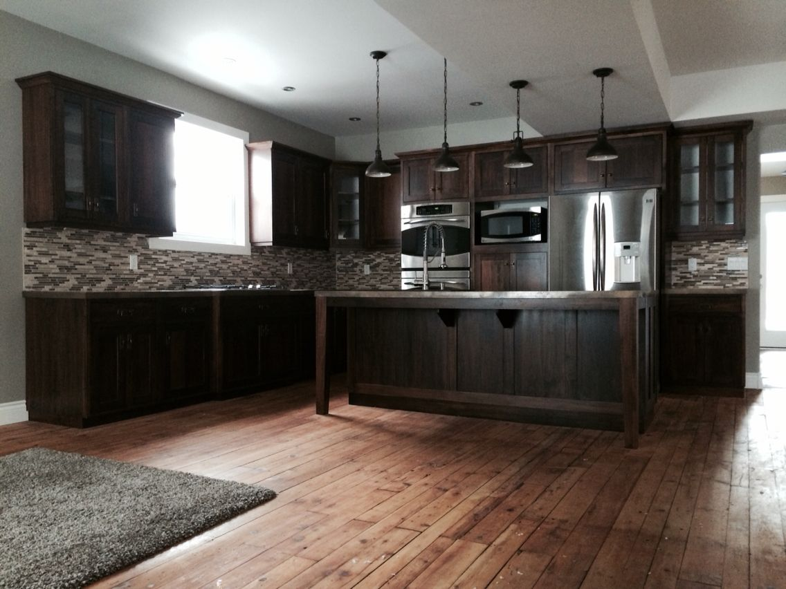 Everythingre Kitchen Remodel Custom Mennonite Wormy Maple Cabinets Hemlock Floors Maple Cabinets Home Kitchens Kitchen Remodel