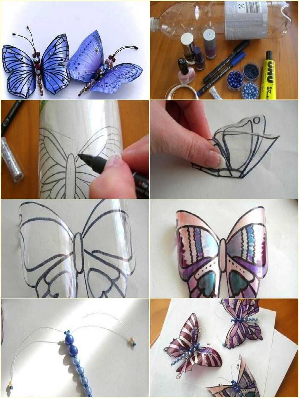 Butterflies from a plastic bottle with their own hands. Butterfly Patterns 67