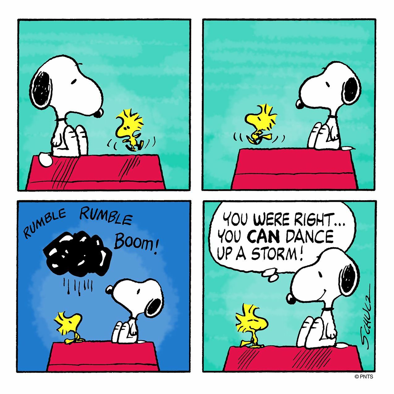 Woodstock really can dance!