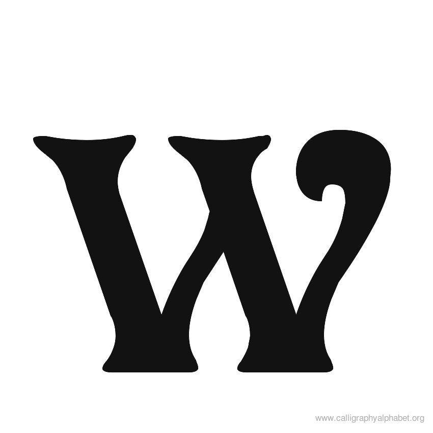 Calligraphy Alphabet Victorian W W 39 S Pinterest