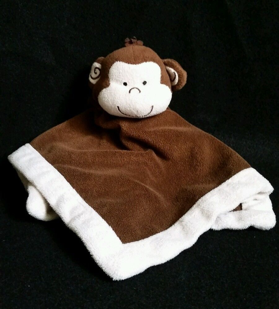 Tiddliwinks Monkey Security Blanket. Blankie Brown With