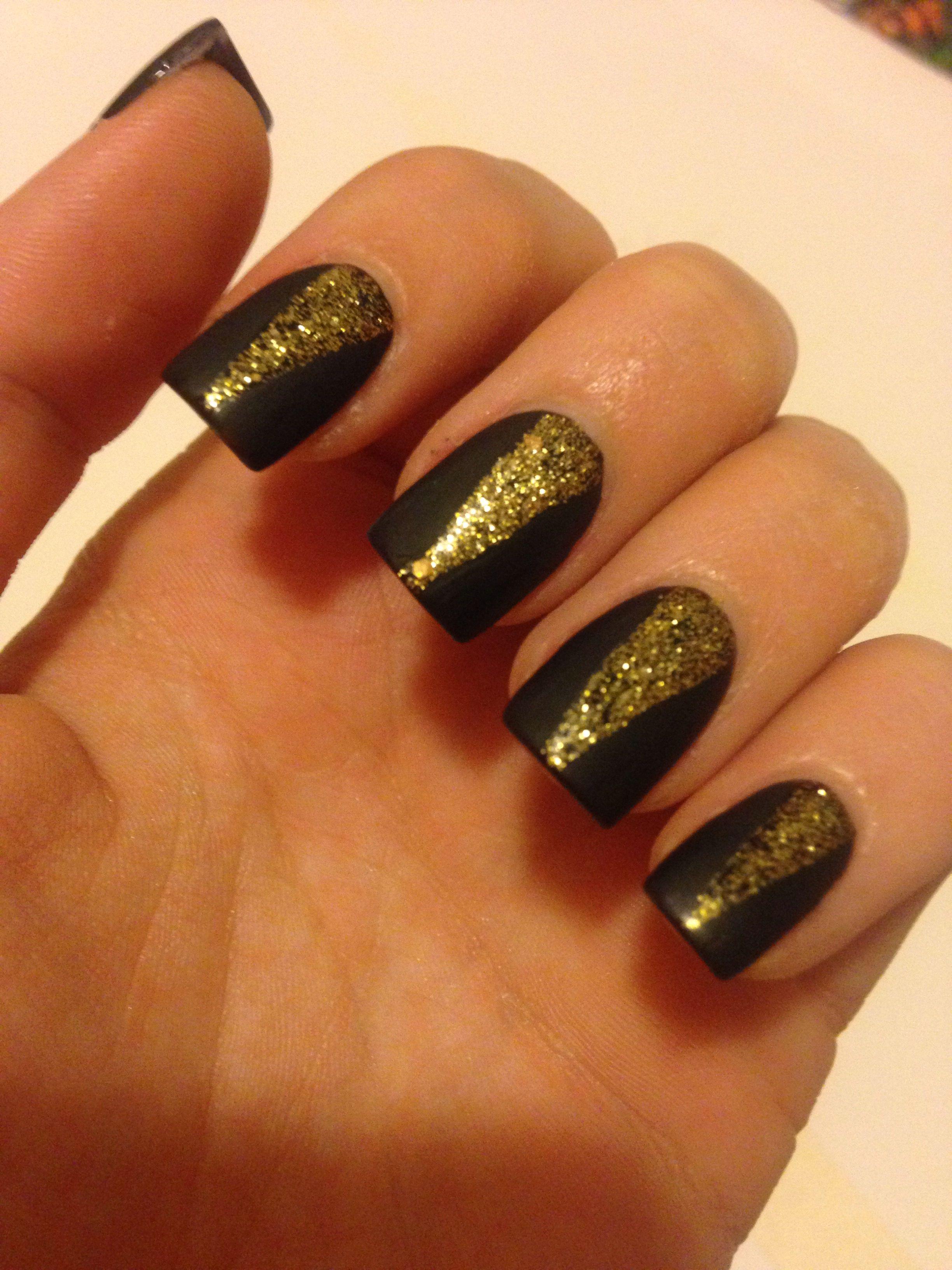 Matte Black Gold Design