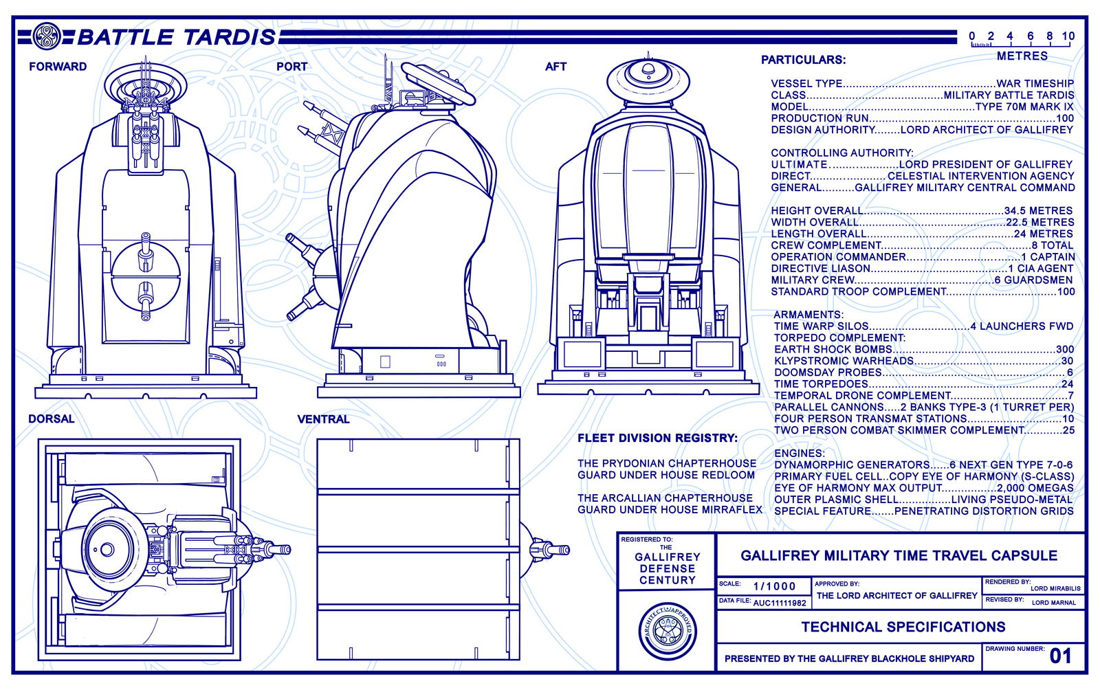Battle TARDIS Schematics Page 1 (REVISED) by Time-Lord-Rilon ...