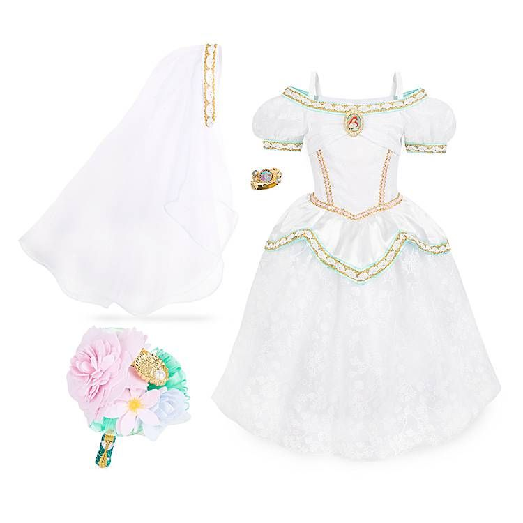Ariel wedding costume set the little mermaid wedding