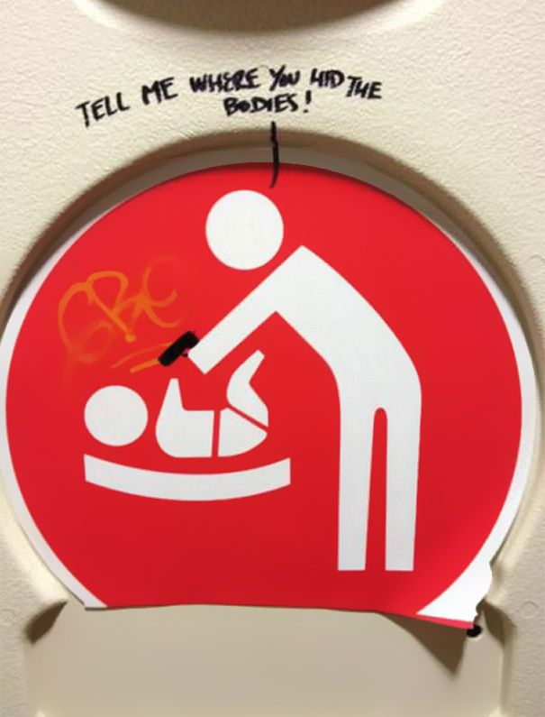 Bathroom Stalls Google Code Jam this baby changing sign | street art | pinterest | bathroom stall