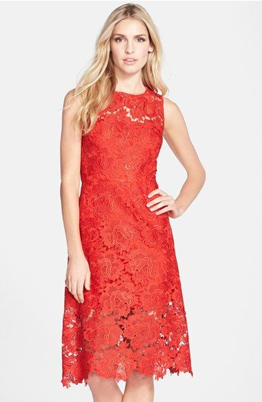 eaa31523c0ad Julia Jordan Illusion Yoke Lace Fit   Flare Dress available at  Nordstrom