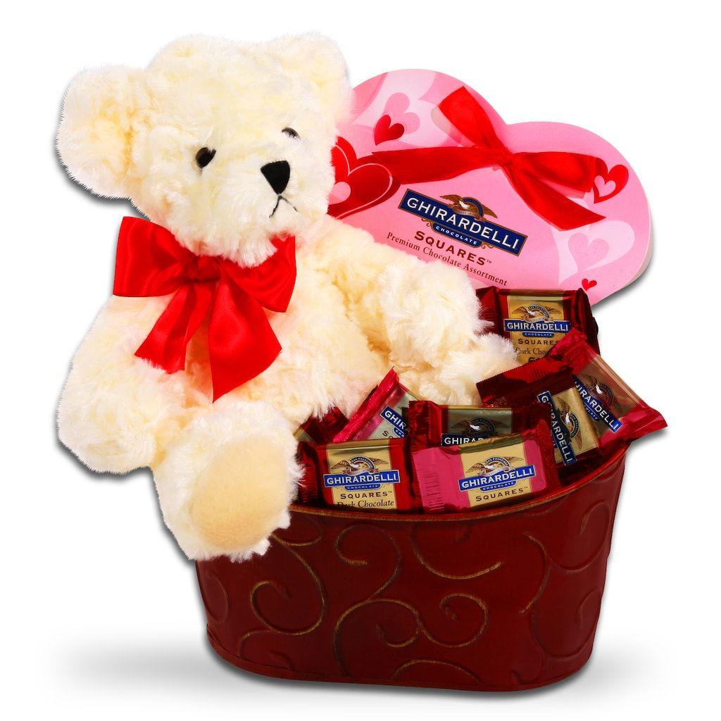 Ghirardelli bear chocolate valentines day gift set in