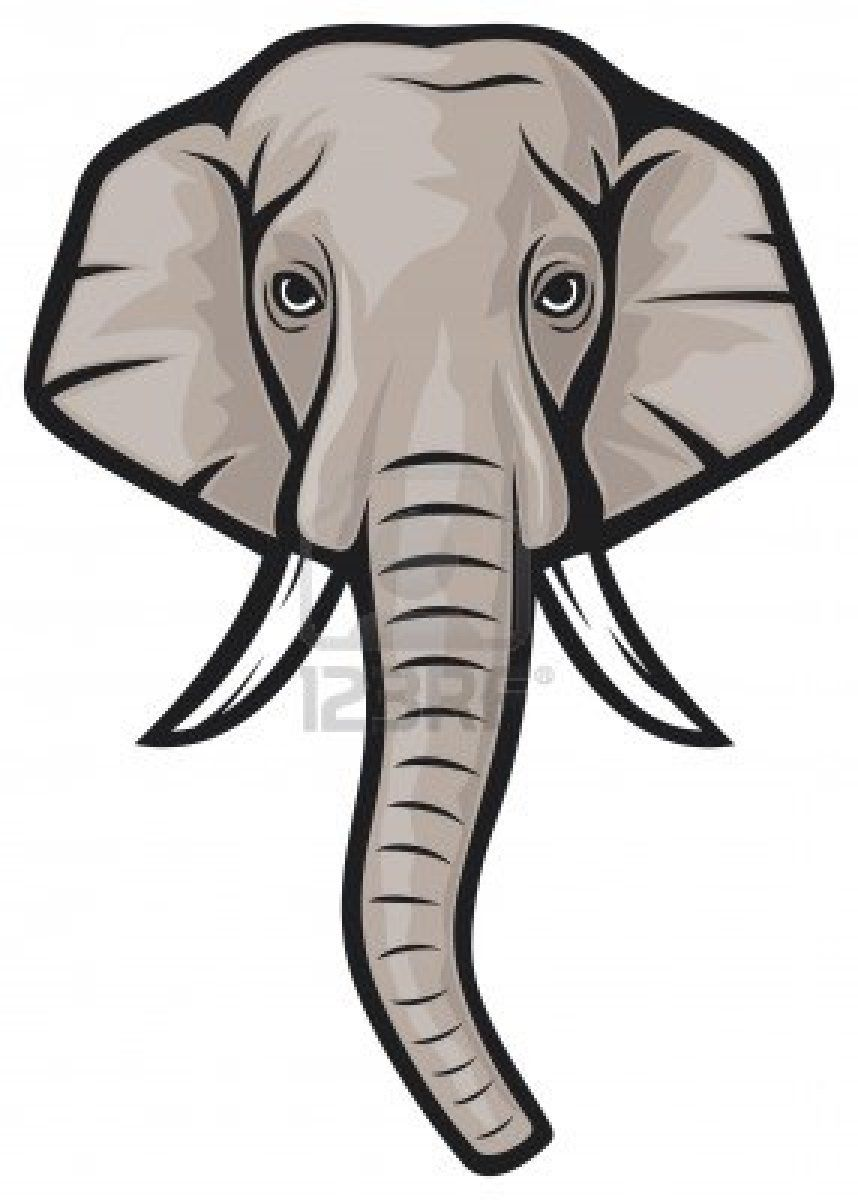 Indian Elephant Clipart : indian, elephant, clipart, Elephant, Indian, Drawing,