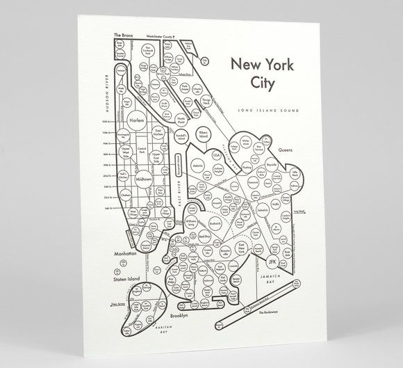 Archie\'s Press - Circle Map of New York City at buyolympia.com ...