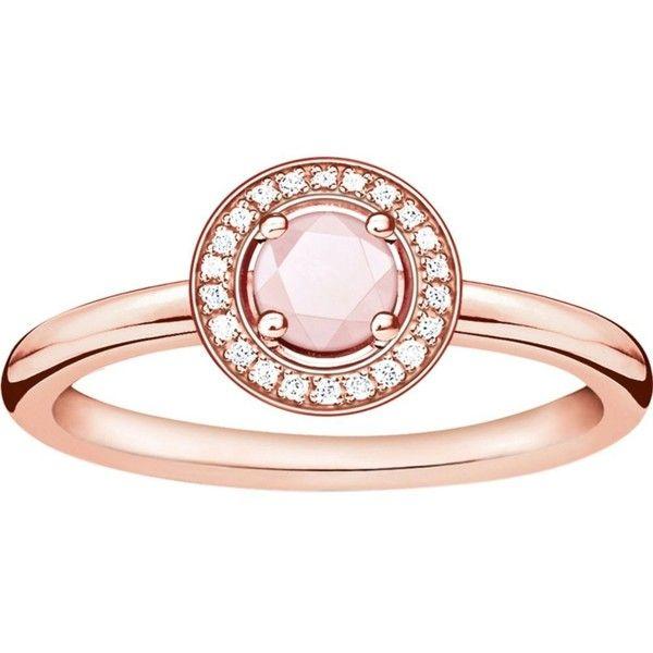 Thomas Sabo Glam Soul 18ct Rose Gold Plated Rose Quartz And Diamond 190 Liked Heart Shaped Diamond Ring Diamond Heart Jewelry Rose Gold Plated Ring