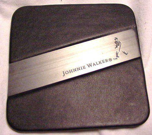 Johnnie Walker Scotch Whiskey Leather Coaster   Set of 4 Coasters by Johnnie Walker Distillery. $24.95