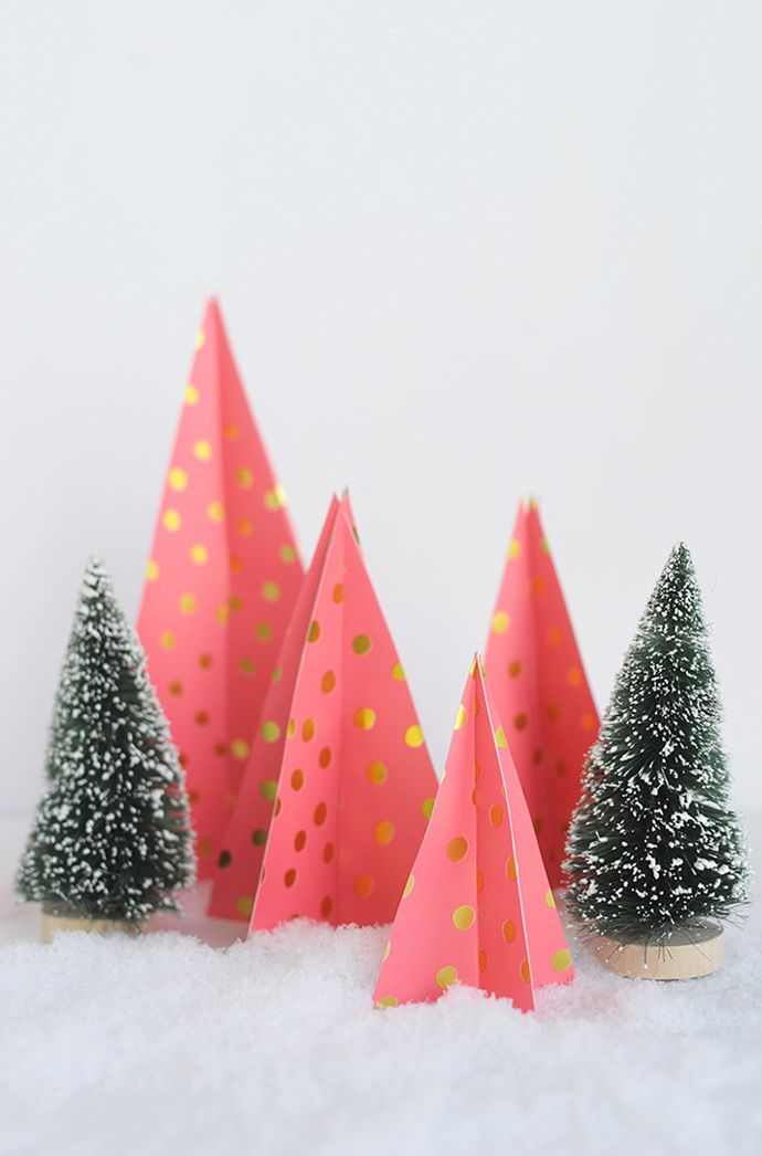 Deck Your Walls Best Holiday Decor Ideas Handmade Charlotte Paper Christmas Tree Diy Paper Christmas Tree Diy Christmas Paper