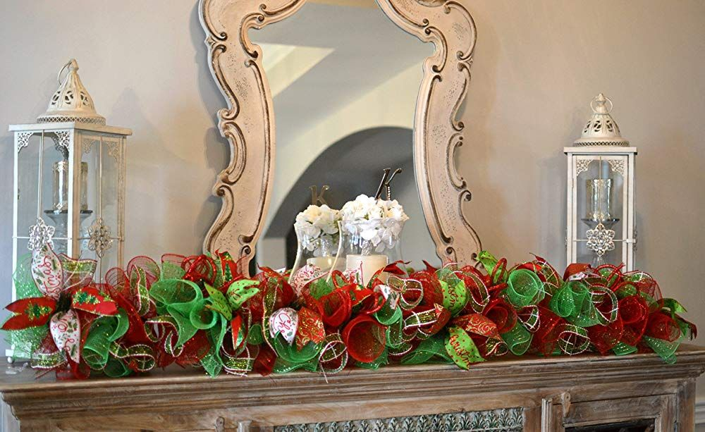 Christmas Garland for Staircase or Mantle Mantel Decor